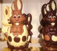 lapins pâques en chocolat