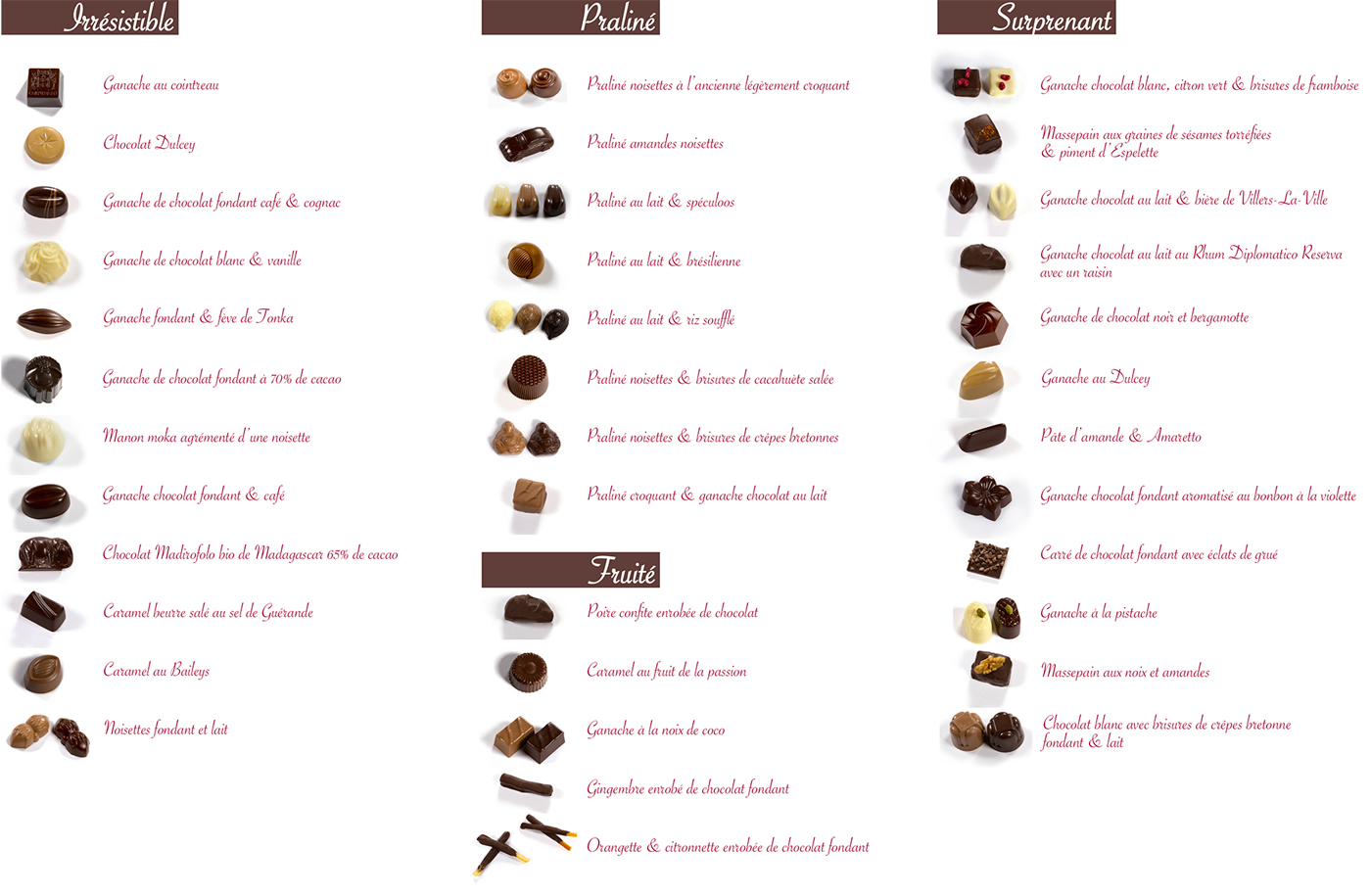 catalogue pralines brabant wallon